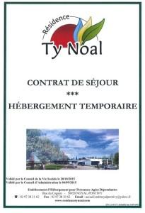 Contrat de séjour hébergement temporaire 2015
